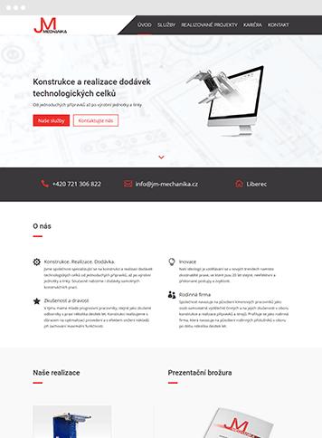 Vytvoření webu JM-MECHANIKA