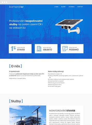 Webové stránky na zakázku Kamerátor