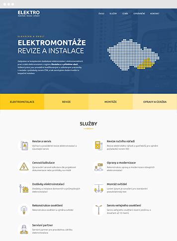 Tvorba moderního webu pro elektro firmu