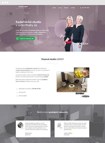 Vytvoření webu pro kadeřnictví