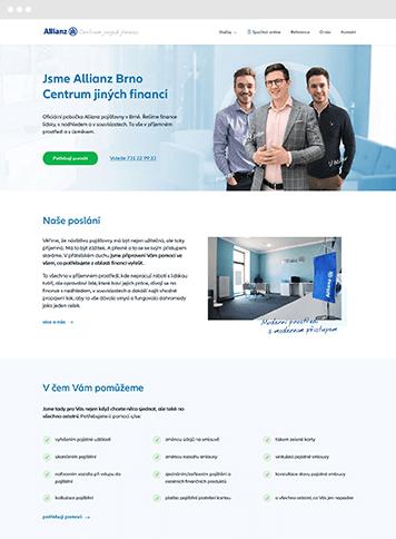 Firemní web na míru pro Allianz Brno